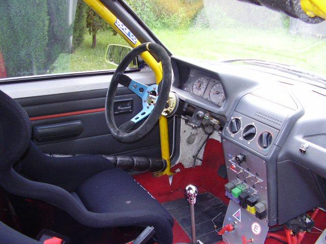 Interior del 205 Rallye