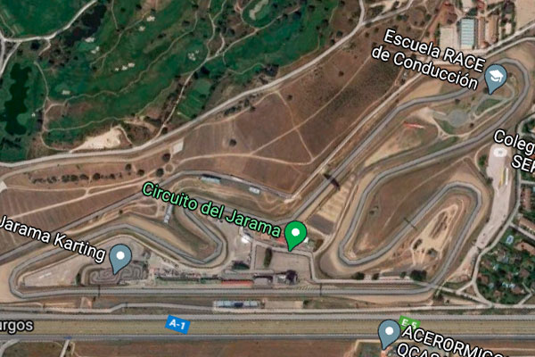 Vista aérea del Circuito del Jarama