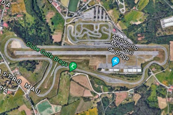 Vista aérea del Circuito Vasco Sameiro de Braga