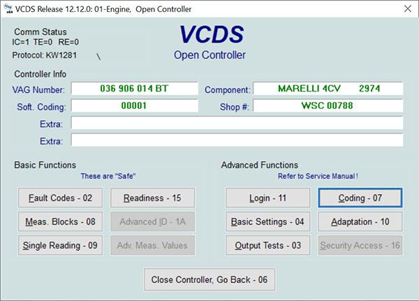 VAG-COM Diagnostic System (VCDS)